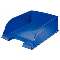Bandeja portadocumentos leitz plus jumbo en color azul.