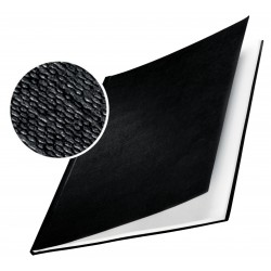 Caja de 10 tapas rígidas en din a-4 leitz impressbind 280 de lomo 28 mm. en color negro.