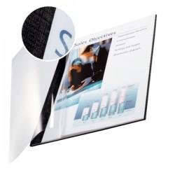 Caja de 10 tapas flexibles en din a-4 leitz impressbind 280 de lomo 14 mm. en color negro.
