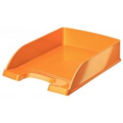 Bandeja portadocumentos leitz wow en color naranja metalizado.