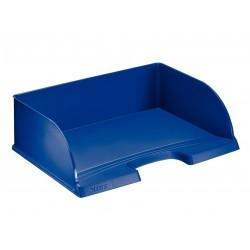 Bandeja portadocumentos leitz jumbo plus de gran capacidad apaisada en color azul.