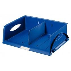 Bandeja portadocumentos leitz sorty standar con separador interior en color azul.