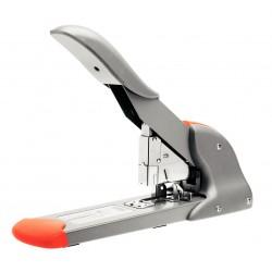 Grapadora de gruesos rapid hd210 en color plata/naranja.