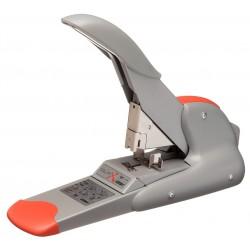 Grapadora de gruesos rapid duax en color plata/naranja.