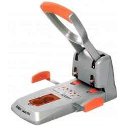 Taladro de gran capacidad con 2 punzones rapid hdc150 en color plata/naranja.