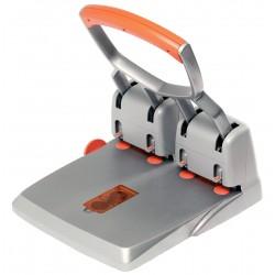 Taladro de gran capacidad con 4 punzones rapid hdc150/4 en color plata/naranja.
