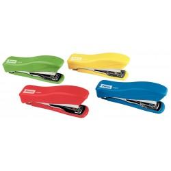 Grapadora de bolsillo petrus liliput 200 + 1 caja de grapas 23/6-200, colores surtidos.