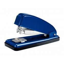 Grapadora de sobremesa petrus 226 en color azul.