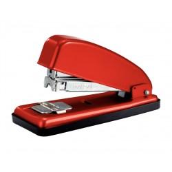 Grapadora de sobremesa petrus 226 en color rojo.
