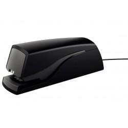 Grapadora eléctrica petrus e-110 en color negro.