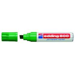 Marcador permanente edding 800 verde.