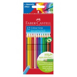 Estuche de lápices de color faber-castell grip 2001 con 12 colores surtidos.