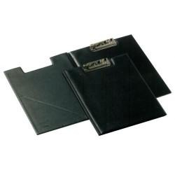 Portablock con miniclip iberplas en folio de p.v.c. en color negro.