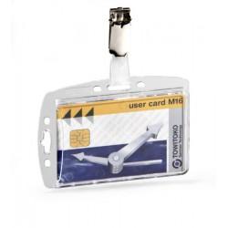 Identificador personal durable de seguridad protegido con pinza de 54x90 mm.