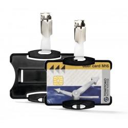 Identificador personal durable simple para tarjetas de seguridad con pinza de 54x85 mm.