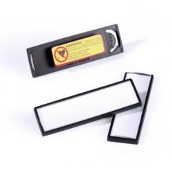 Identificador personal durable con imán de 17x67 mm.