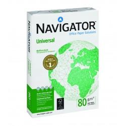Papel navigator universal din a-4 de 80 grs. paquete de 500 hojas.