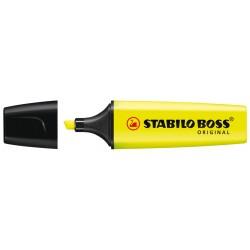 Marcador fluorescente stabilo boss original amarillo.