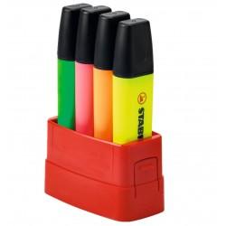 Marcador fluorescente stabilo boss original en colores surtidos, estuche boss parade de 4 uds.