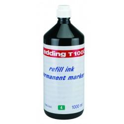 Tinta de recarga edding de 1000 ml. en color verde.