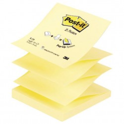 Bloc de notas adhesivas 3m post-it z-notes 76x76 mm. color canary yellow.