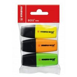 Marcador fluorescente stabilo boss mini pop en colores surtidos, estuche de 5 uds.