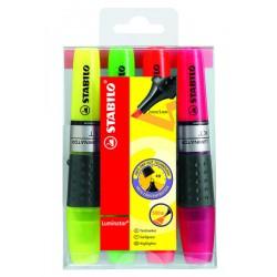 Marcador fluorescente stabilo luminator en colores surtidos, estuche de 4 uds.