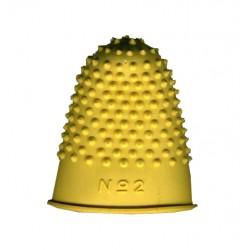 Dedil de goma csp talla nº 2, color amarillo.