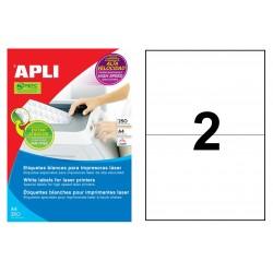 Etiqueta blanca para láser cantos rectos apli de 210x148 caja de 250 hojas din a4