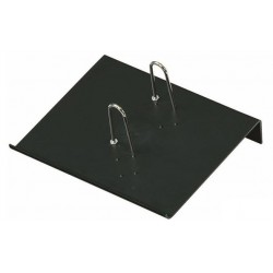Soporte bloque calendario faibo en plástico de color negro.