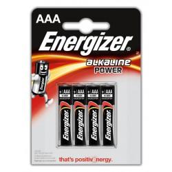 Pila alcalina energizer lr03-e92 AAA 1,5v, blister de 4 uds.