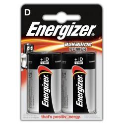 Pila alcalina energizer lr20-e95 D 1,5V, blister de 2 uds.