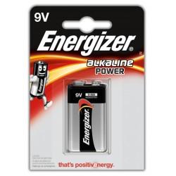 Pila alcalina energizer 6lr61 9V, blister de 1 ud.