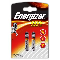 Pila alcalina energizer lr61 AAAA 1,5v, blister de 2 uds.