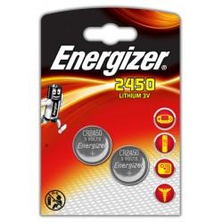 Pila de botón energizer cr2450 lithium 3v, blister de 2 uds.