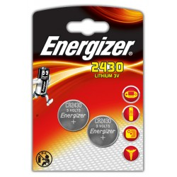 Pila de botón energizer cr2430 lithium 3v, blister de 2 uds.