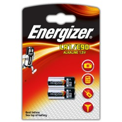 Pila especial energizer lr1/e90 alkaline 1,5v, blister de 2 uds.