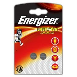 Pila de botón energizer lr54/189 alkaline 1,5v, blister de 2 uds.