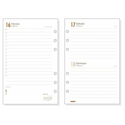 Recambio agenda finocam open 500 anualidad día página.