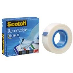 Cinta adhesiva removible 3m scotch magic 811 de 19 mm. x 33 mts.
