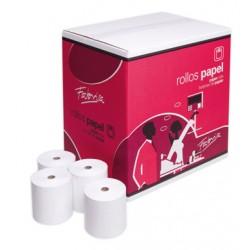 Rollo de papel térmico fabrisa de 80x60x12 mm.