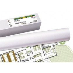 Rollo de papel para plotter sprintjet plus 80 grs. de 610 mm. x 50 mts.