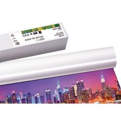 Rollo de papel para plotter sprintjet glossy 140 grs. de 1067 mm. x 30 mts.