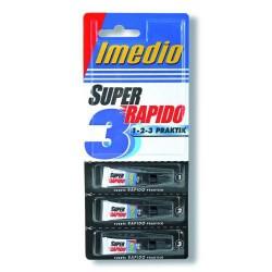 Adhesivo imedio super rápido en blister de 3 tubos de 1 grs.