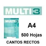 BLANCAS CANTOS RECTOS, CAJAS DE 500 HOJAS DIN A-4