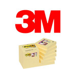 BLOCS DE NOTAS ADHESIVAS 3M POST-IT SUPER STICKY, COLOR CANARY YELLOW