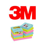 BLOCS DE NOTAS ADHESIVAS 3M POST-IT SUPER STICKY, COLOR MIAMI