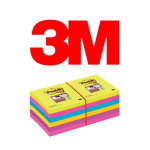 BLOCS DE NOTAS ADHESIVAS 3M POST-IT SUPER STICKY, COLOR ULTRA