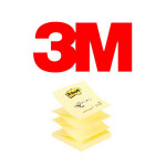 BLOCS DE NOTAS ADHESIVAS 3M POST-IT Z-NOTES, COLOR CANARY YELLOW