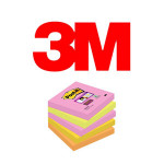 BLOCS DE NOTAS ADHESIVAS 3M POST-IT SUPER STICKY, COLOR CAPE TOWN